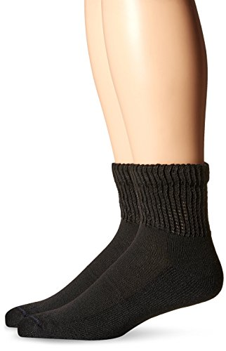 (Dr. Scholls Mens 2 Pack Dry Feet Diabetes and Circulatory Ankle Socks, Black, Size 7-12)