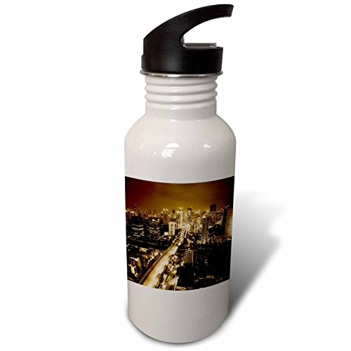 3dRose Cities Of The World - Jakarta, Indonesia - Flip Straw 21oz Water Bottle (wb_268653_2) by 3dRose