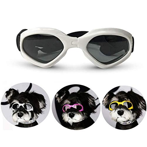 Loggipet Dog Goggles Sunglasses UV Protective Foldable Pet Sun Glasses Adjustable Waterproof Eyewear for Cat Dog from Loggipet