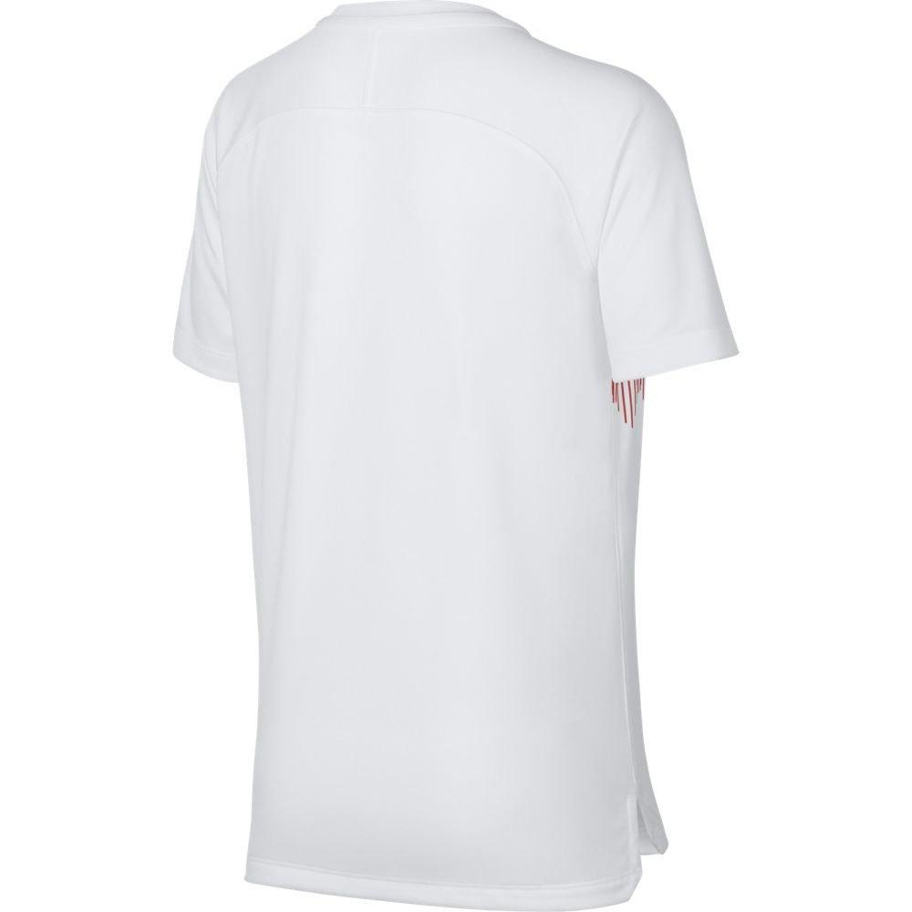 7f9b51cce Amazon.com : Nike 2018-2019 England Pre-Match Training Football Soccer T- Shirt Jersey (White) - Kids : Sports & Outdoors