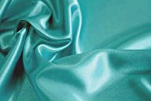 """mds Pack of 10 Yard Charmeuse Bridal Solid Satin Fabric for Wedding Dress Fashion Crafts Costumes Decorations Silky Satin 44"""" Teal"""