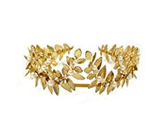Gold Metal Leaves Suit Every piece of your Wardrobe. Nature's Theme is very Trendy Now! *Will not Change the Color *Light and Comfortable Material:   Brass leavesGold plated wire Gold plated hair band Suitable for   Women  Girls  Bride & ...