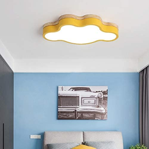 LHT Creative Macaron Bedroom lamp Simple Modern Cartoon Children's Room Ceiling lamp Personality Cloud Lamps Ceiling Spots (Color : Black)