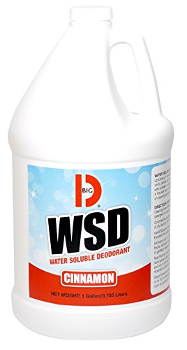 Big D 1611 Water Soluble Deodorant, Cinnamon Fragrance, 1 Gallon (Pack of 4) - Add to any cleaning solution - Ideal for use in hotels, food service, health care, schools and institutions ()