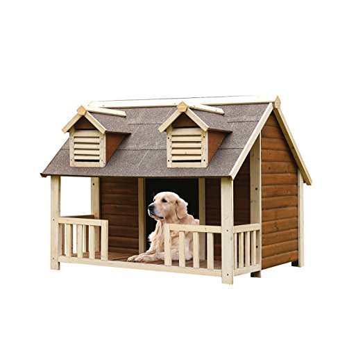 ACME 98210 Rufus Pet House, Cream/Oak