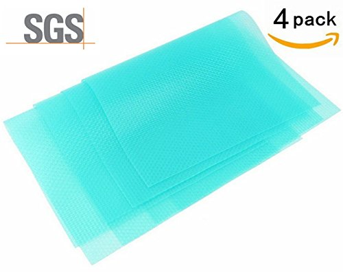 Review 4 Pack Fridge Pads, UShow Multifunctional Anti-bacterial Anti-fouling Anti-frost Waterproof By UShow by UShow