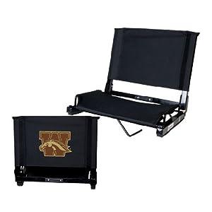 Western Michigan Stadium Chair Black 'W w/ Bronco' from CollegeFanGear