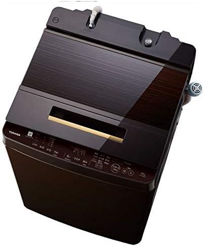 東芝 10.0kg 全自動洗濯機 グレインブラウン