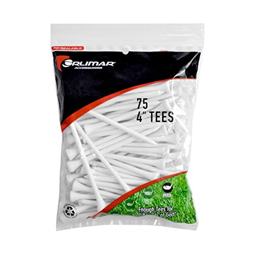 Orlimar 4-Inch Golf Tees 75-Pack (White)