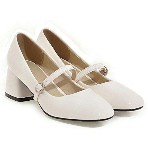 compensés moyen Coolcept talons modèle Jane blanc à Mary femmes Chaussures pour wq1tHExS0