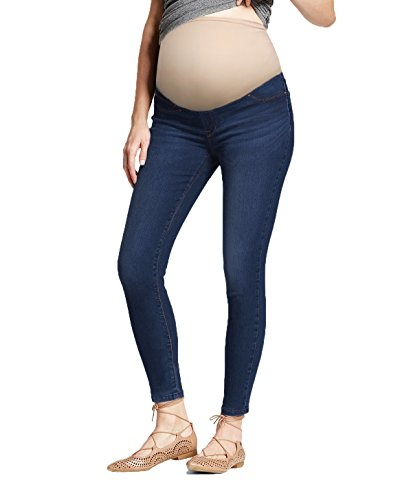 HyBrid & Company Super Comfy Stretch Women's Skinny Maternity Jeans PM4822S Medium BLUE3 XLarge