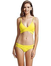 Amazon.com: Yellows - Bikinis / Swimsuits & Cover Ups