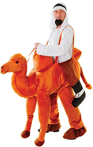 Mens Ladies Plush Ride On Step in Arabian Camel Animal Funny Novelty Festival Halloween Stag Hen Do Night Party Fancy Dress Costume Outfit (Camel) ()