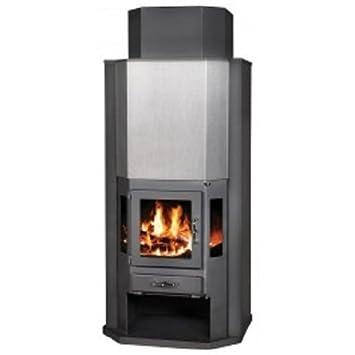 Estufa de leña chimenea de combustible sólido Log quemador estufa para madera, nuevo 14 kW: Amazon.es: Bricolaje y herramientas