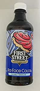 Amazon.com : 16oz Red Food Color Double Strength by First Street ...