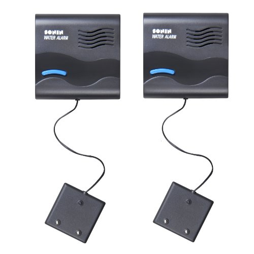Sonin 00700X2PK Water Alarm with Remote Sensor, 2-Pack
