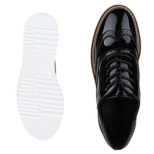 napoli-fashion - Zapatos de vestir brogues Mujer Schwarz Plateau