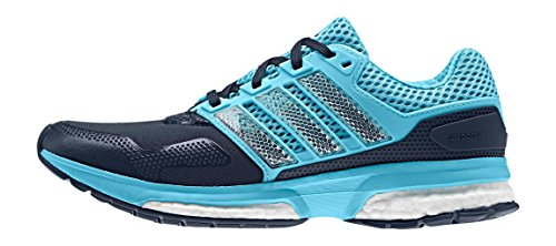 adidas Response 2 Techfit W, Zapatillas de Running para Mujer Azul Marino / Azul / Blanco (Maruni / Briazu / Ftwbla)