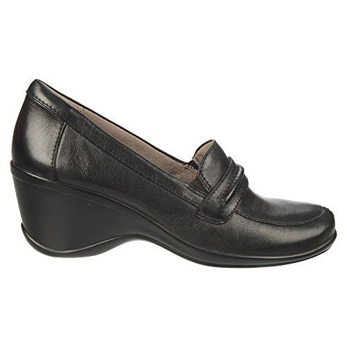 Naturalizer Womens Insert Slip-On Loafer Black Sheep Premium Leather PPS5M6n