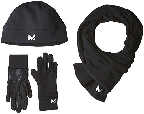 Mission Women's RadiantActive Performance Beanie/Scarf/Glove Set, Black, Small/Medium