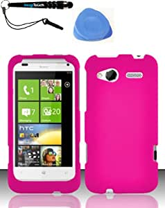 3-Item Combo: For HTC Radar 4G (T-Mobile) Rubberized Case Cover Protector - Rose Pink +iMAGITOUCH(TM) Touch Screen Stylus Pen AND Pry Tool