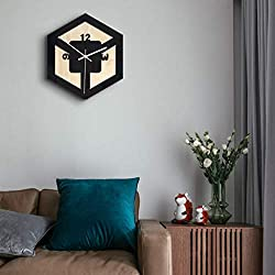 m·kvfa Nordic Style Wall Clock Silent Transparent Acrylic Clock for Decorate Living Room Bedroom Office Cafe