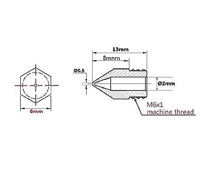 Anycubic 5pcs 3D Boquilla de la Impresora Extrusora de Cabezal de ...