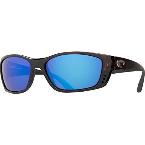 Costa Del Mar Fisch Sunglasses Black / Copper 580Glass Tortoise Frame Blue Mirror