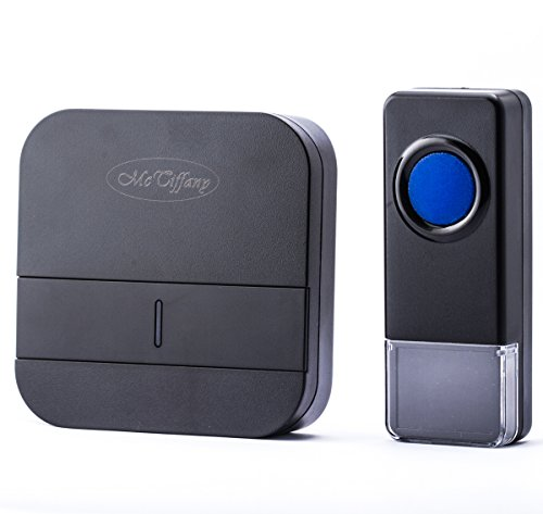 Wireless Doorbell Operating at over 500-feet Range with Over 50 Chimes, No Batteries Required for Receiver,