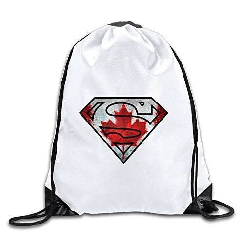 Runy Custom Super Canada Flag Adjustable String Gym Backpack - Burch Tory Canada
