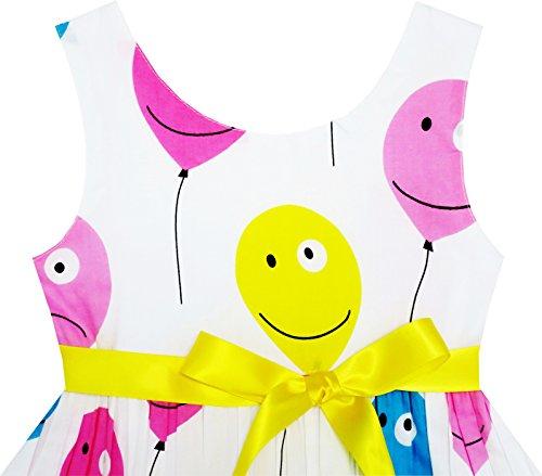 Filles Robe Point Rose Enfants Brodé Sundress Fleur Vêtements Taille 2-6 Ans Multi-couleurs