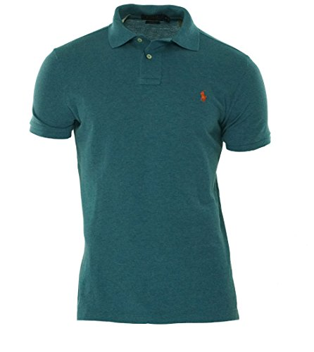 Ralph Lauren Custom-Fit Polo aus Piqué - Marine Heather