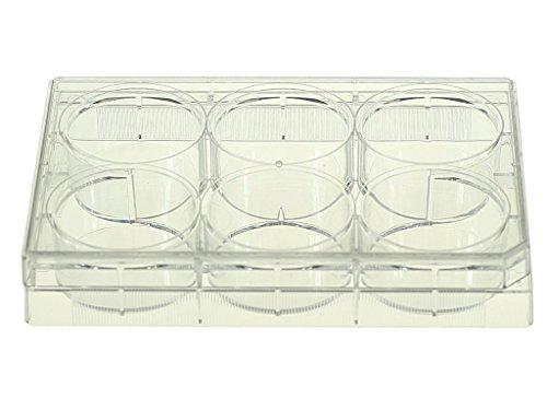 Nest Scientific 703011 Polystyrene 6 Well Cell Culture Plate, Flat Bottom, Non-Treated, Sterile, Clear, 1 per Pack, 50 per Case (Pack of 50) (Non Sterile Flat Bottom)