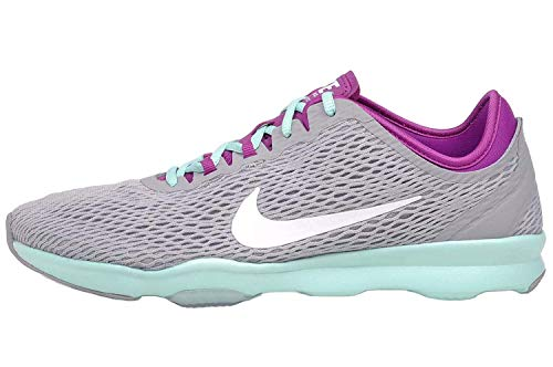 Nike Womens Wmns Zoom Fit, WOLF GREY/WHITE/FUCHSIA FLASH/ARTISAN
