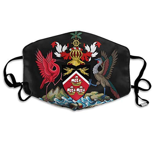 SDQQ6 Coat of Arms of Trinidad and Tobago Mouth Mask Unisex Printed Fashion Face Mask Anti-dust Masks]()