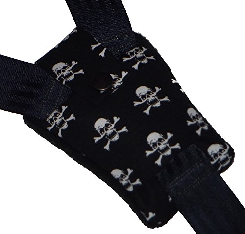 Baby Skull Harness Buckle Pad - Highchair, Car Seat, Pram Harness Cover Handmade in Heaven