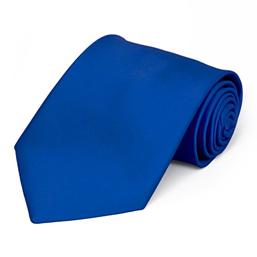 TieMart Horizon Blue Premium Solid Color Necktie ()