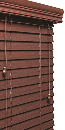 Lotus & Windoware 2″ Faux Wood Blind, 43 by 84″, Mahogany