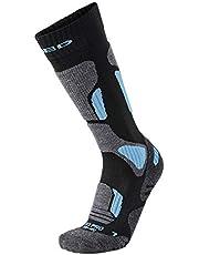 XAED, calzini da sci, da donna, colore nero/blu chiaro, taglia 35/37