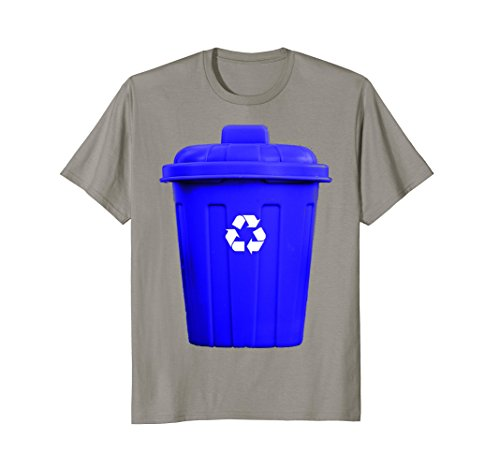 Mens Recycling Can Funny Hilarious Halloween Costume T-Shirt Large Slate