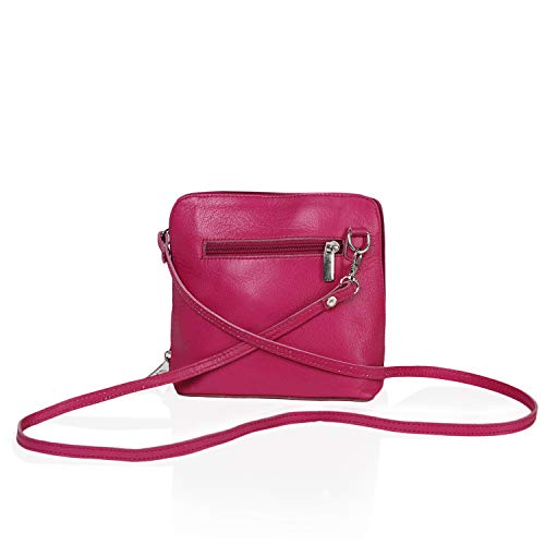 Includes a Protective Bag Storage Italian Shoulder Made Body Handbag Micro Pink Bag Small Bag Branded Leather Hand Blue Cross qZcCqg76wx