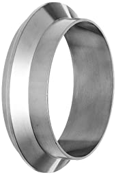 Dixon 14WI-R400 Stainless Steel 316L Sanitary Fitting, Male I-Line Short Weld Ferrule, 4\