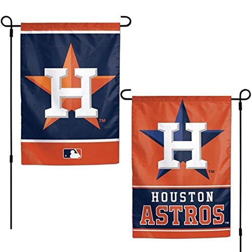 WinCraft MLB Houston Astros Flag12x18 Garden Style 2 Sided Flag, Team Colors, One Size