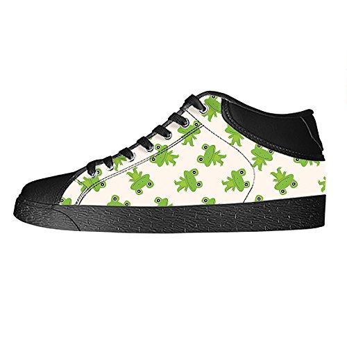 Canvas Rana Vela Top Scarpe Panno Men' B Di Up Custom S Sneakers Shoes A Tela Divertente Lace High I4xfqwF