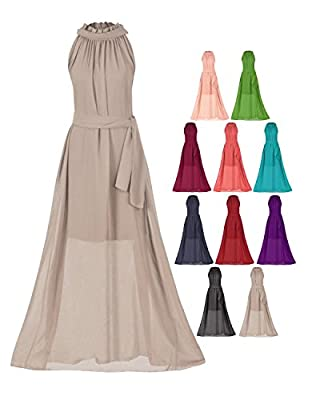 Howriis Women's Chiffon Sleeveless Long Formal Dresses