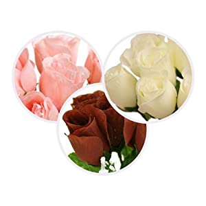 BalsaCircle 84 Silk Rose Buds - 12 Bushes - Artificial Flowers Wedding Party Centerpieces Arrangements Bouquets Supplies 32
