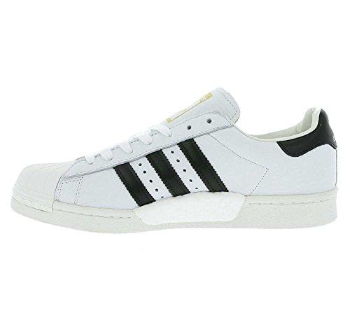 Adidas Originaux Hommes Superstar Boost Formateurs Blanc Noir Us5.5 Blanc
