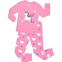 Little Girls Horse Pajamas Set Children Christmas PJs 100% Cotton Sleepwear Size 2 to 8 Years