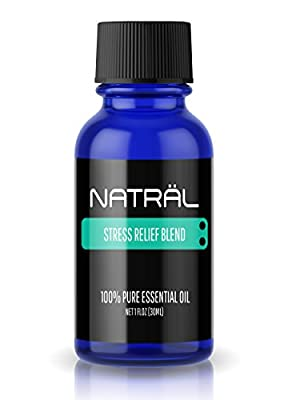 NATRÄL Stress Relief Blend, 100% Pure and Natural Essential Oil, Large 1 Ounce Bottle