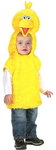 [Big Bird Vest Toddler Costume 3T 4T - Toddler Halloween Costume] (Toddler Boy Big Bird Costume)